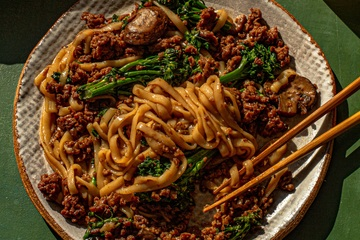 Broccoli and Noodle Skillet