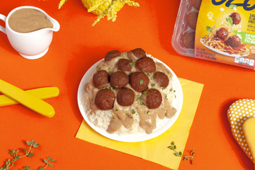 Fluffy Meatball Mashed Potatoes